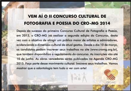 II Concurso Cultural Foto e Poesia - CRO-MG 2015